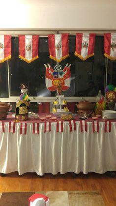 Mesa decorativa fiestas patrias Perú