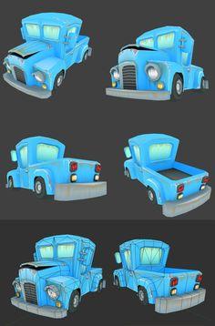 Cartoon truck by nnj3de