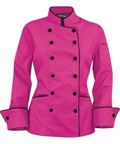 I lovers you pink chef coat!
