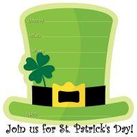 Free printable St. Patrick's Day invitation template