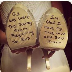 Cute idea for wedding heels!