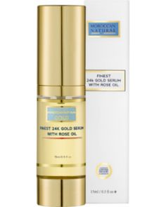 New Year's Sale: Moroccan Natural Finest 24K Gold Serum with Rose Oil, 15 ml