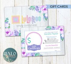 Gift Cards   Purple Flowers