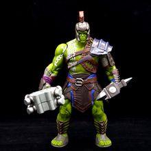 Good PVC Movie Anime Thor 3 Ragnarok Action Figure War Hammer Battle Axe Gladiator Hulk Movable Model Toy Boy Gift Collectibles(China)