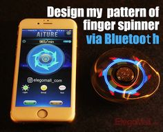 AITURE Ai100 Hand Spinner, Something Different, Something Cool!😆😆😆  First Bluetooth Control Hand Spinner Ever! ------------------------------It is cool, easy-handle, and changeable. Simply connect with the spinner via Bluetooth, choose whatever you want as display contents!  #AITURE Ai100 Hand Spinner,#Bluetooth Control,#AITURE#Spinner#first#zinc-alloy#optional patterns#LED lights#long lasting#optinal#tips#tricks#flavors#iquid#funny#smoke#ecig#cigarette#builds#skin#kit#vape#vaping#vaping…