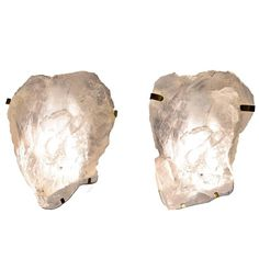 Large Pair of Natural Rock Crystal Quartz Wall Sconces | 1stdibs.com