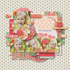 """Sounds of Spring by WendyP Designs and Designs by Brigit http://www.digitalscrapbookingstudio.com/personal-use/kits/sounds-of-spring-digital-scrapkit/  Template """"Parts of life 1."""" by Tinci Designs http://scrapstacks.com/shop/Tinci-Designs/"""