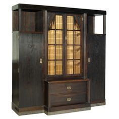 Arts and Crafts Bookcase Circa 1905 Austria/Hungary | From a unique collection of antique and modern bookcases at http://www.1stdibs.com/furniture/storage-case-pieces/bookcases/