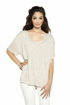 Neang: Heathered Taupe Oversize Top #ravenandlilystyle - I've started wearing a lot of this style with scarves, skinny jeans, and boots.  #PinItToWinIt