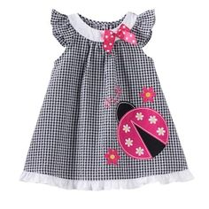 Sophie Rose Ladybug Plaid Seersucker Dress Baby Girl - Baby Girl Dress - Ideas of Baby Girl Dress Sewing Kids Clothes, Baby Sewing, Babies Clothes, Children Clothes, Toddler Girl Dresses, Little Girl Dresses, Dress Girl, Toddler Girls, Little Girl Fashion