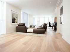 """With up to a 30 year residential warranty, GECA certification, and an incredible choice of colours and finishes available, Havwoods Europlank range will have you shouting """"Eureaka!""""  Pictured is Europlank Oak Ice White engineered timber flooring."""