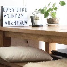 """""""✖️EASY LIKE SUNDAYMORNING ✖️ #sunday #styling #myhome #mystyle #pilea #lightbox #homedecor #homestyle #"""""""