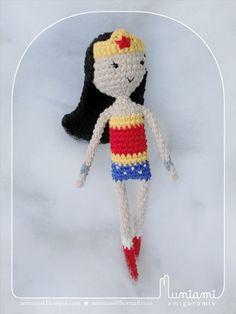 Amigurumi Wonder Woman : Wonder woman, Crochet doll pattern and Dolls on Pinterest