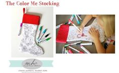 Free Pattern: Color Me Christmas Stocking
