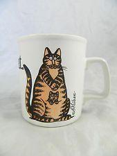 B. Kliban Momcat Funny Cat Coffee Mug Cup Kiln Craft Staffordshire England Vtg