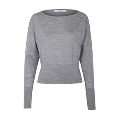 OWN DECISION pullover boatneck 1/1 Knit (€390) ❤ liked on Polyvore featuring tops, sweaters, knit pullover, pullover sweater, boat neck sweater, knit sweater and knit tops