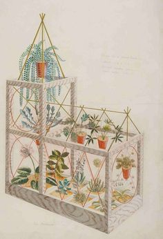 Design for a Plant House by Eric Ravilious #lifeinstyle #greenwithenvy