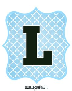 Blue_Black Letter_L