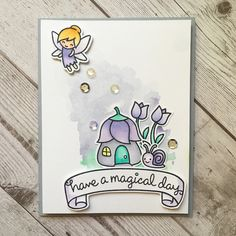Lawn Fawn - Fairy Friends, Gleeful Gardens, Bannerific _ sweet magical card by Sharna via Flickr