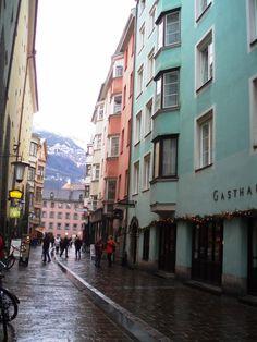 Centro histórico de Innsbruck, Tirol, Áustria. Foto Claudia Costa.