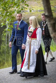 The Norwegian Royal Family hosted a garden party at Maihaugen