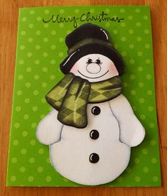 Christmas Snowman card set (10) on Etsy, $14.75