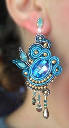 Earrings by Serena Di Mercione  --- soutache and swarovski