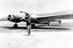 Legendary aviator Amelia Earhart was attempting to become the first female pilot to fly around the world when her plane disappeared over the Pacific Ocean in. Amelia Earhart Picture, Amelia Earhart Plane, Fly Around The World, Around The Worlds, Amelia Earhart Disappearance, Female Pilot, Fear Of Flying, Air Travel, Travel Plane