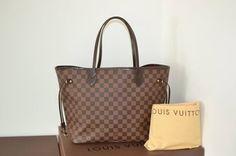 Louis Vuitton 100% Damier Ebene Neverfull Mm With Dustbag Shoulder Bag $1,090
