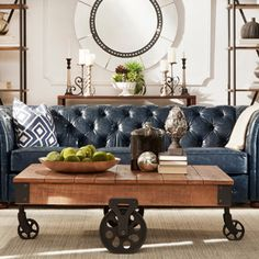 who makes arhaus leather sofas london rattan corner sofa set grey brown chesterfield living room coffee table ...