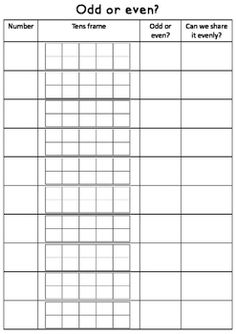 Odd and even numbers worksheet FREE