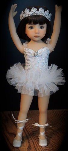"""Swan Lake"" Ballet Costume - fits Dianna Effner 13"" Little Darling"