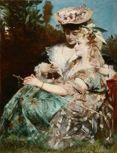 """Der Liebesbrief ( The Love Letter1875). Hans Makart (Austrian, 1840-1884). Oil on panel."