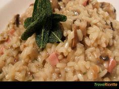 RISOTTO FUNGHI CASTAGNE E PANCETTA (BIMBY)  #ricette #food #recipes