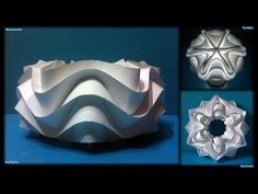 Curved Folding Paper (Ball Cylinder Star) - YouTube