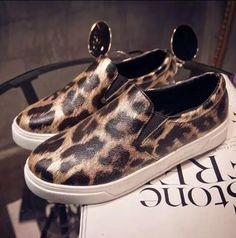 Nice Women Shoes Canvas Shoes Fashion Women Flats Shoes Leopard Summer Style Women Loafer P5c111