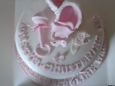 top view of christening cake