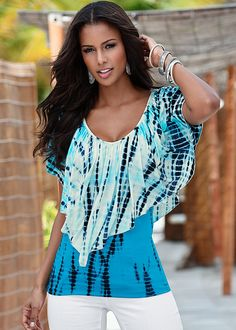 520d8efa07 Tie dye flutter top from VENUS women s swimwear and sexy clothing. Order  Tie dye flutter top for women from the online catalog or