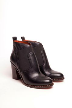 Marc by Marc Jacobs Stacked Heel Ankle Boot in Black #marcjacobs
