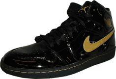 Air Jordan 1 (I) Retro Black / Metallic Gold   Patent Leather   Authentic Air Jordan:   Release Date December 23rd, 2003