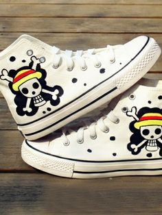 Comfortable Street Stylish Skull Printed Canvas Sneakers on buytrends.com