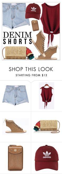 """Summer Staple: Denim Cutoffs"" by teoecar ❤ liked on Polyvore featuring Mar y Sol and adidas"