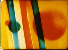 Len Lye  'Colour Flight' Still - Experimental film. Len Lye pioneered painting directly onto film in the 1930s.