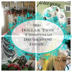 30+ dollar tree decoarting ideas. #Christmas tablescapes, #crafts, #centerpieces and more