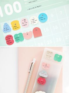 Plan Marker Sticky Notes / Adhesive Notepad / Notepads / Memo pad / Korean Stationery / Scrapbooking / Bullet Journal / School Supplies #etsy #papergoods #pink #backtoschool #christmas #green #todolist #shoppinglist #stationery #checklist
