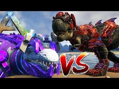 cool Ark Survival Evolved - NEW TECH MOSA VS TECH TREX, INTENSE PVP - (Ark Survival Gameplay)
