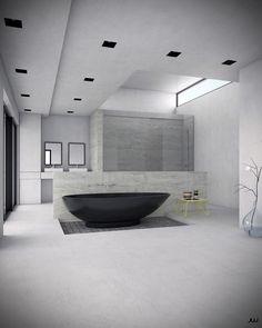 We all know Amazing Home design is really suitable for our Home. You can learn from our article (Luxury Bathroom Designs Complete With Modern Bathtubs Which Presenting The Beautifulness) and get some ideas for your Home design. Black Bathtub, Modern Bathtub, Modern Bathroom, Bad Inspiration, Bathroom Inspiration, Best Interior Design, Interior Decorating, Bathroom Design Luxury, Home Decor Online
