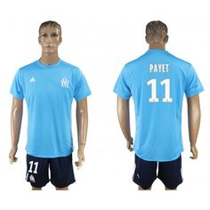 476117a73 Camisetas Futbol Olympique de Marseille Away 11 Payet Adidas Azul 2017-2018  Equipaciones de Futbol