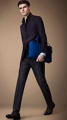 Burberry London Detachable Warmer Lightweight Blazer