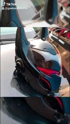 Armor Concept, Weapon Concept Art, Marvel Art, Marvel Comics, Foto Batman, Futuristic Helmet, Batman Wallpaper, Cosplay Armor, Batman Beyond